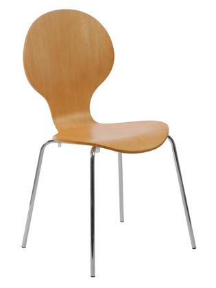 Euro Style 02940 Bunny Series  Metal Frame Dining Room Chair
