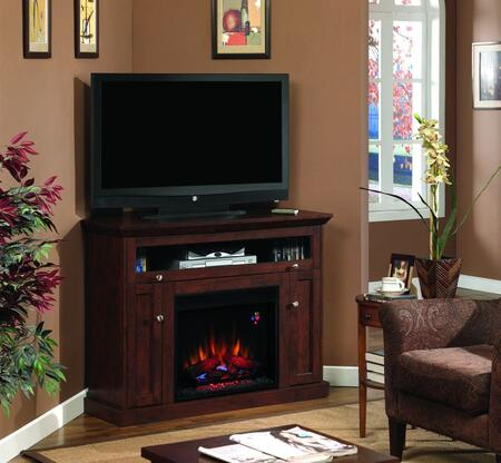 Picture of 23DE9047-PC81 Windsor Electric Fireplace Entertainment Center with 3-Way Adjustable Concealed Euro Hinges Adjustable Shelves Integrated Wire Managem