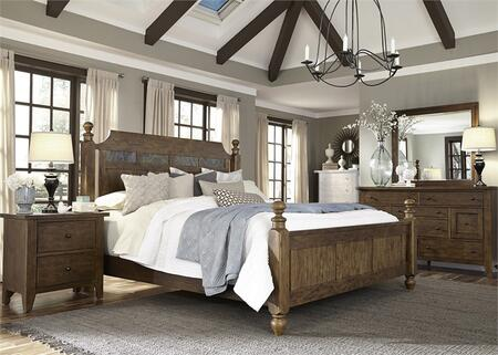 Liberty Furniture Hearthstone 4 Piece King Size Bedroom Set