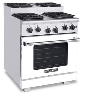 American Range ARR304SW Titan Series Gas Freestanding Range with Sealed Burner Cooktop, 4.8 cu. ft. Primary Oven Capacity, in White