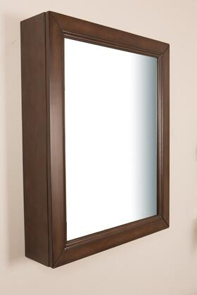 "Bellaterra Home 7611MC 24"" Mirror Cabinet with Decorative Door Pull, 0.6"" Thick Mirror and Two Shelves in"