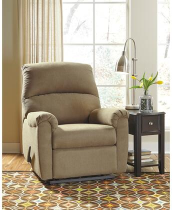 """Flash Furniture Signature Design by Ashley Otwell 35"""" Recliner with Wall Hugger Design, Plush Pillow Back, Metal Frame, Lever Recliner and Fabric Upholstery in"""