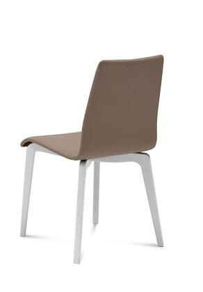 Domitalia JUDESLSFLBOS7J Jude-L Chair with White Mat Lacquered Frame