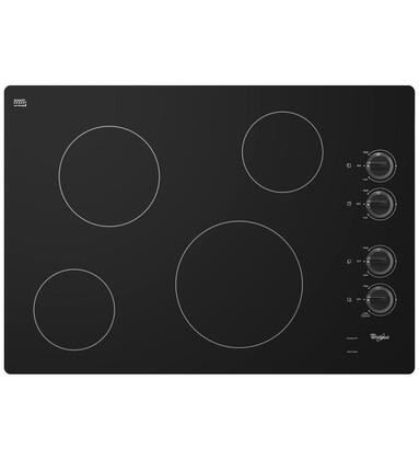 "Whirlpool W5CE3024XB 30"" Electric Cooktop"