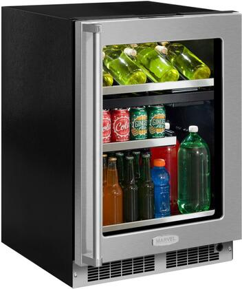 """Marvel MP24WBxxxx 24"""" Marvel Professional Dual Zone Wine and Beverage Center with Dynamic Cooling Technology, Vibration Neutralization System, Thermal Efficient Cabinet, and Soft Close Integrated Controls, in"""