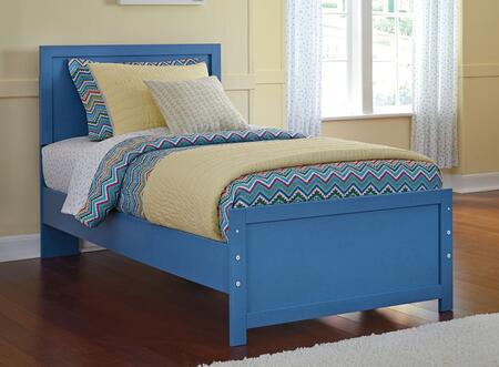 Signature Design by Ashley Bronilly B045 Panel Bed with Clean Straight Lines, Metro Modern Style and Replicated Paint Finish in Blue