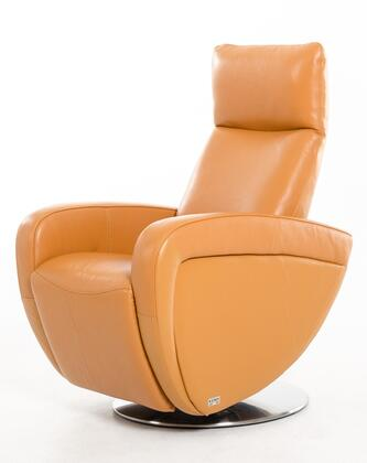 VIG Furniture VGKNI3052ORG Divani Casa Maple Series Modern Leather Metal Frame  Recliners