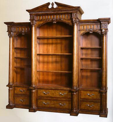 Ambella 10200800001Dalton Series Wood 9 Shelves Bookcase