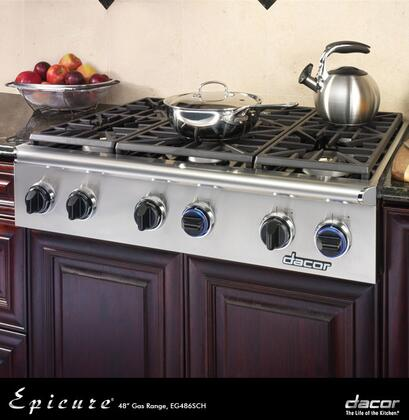 Dacor EG486SCHLPH Discovery Series Liquid Propane Sealed Burner Style Cooktop, in Stainless Steel