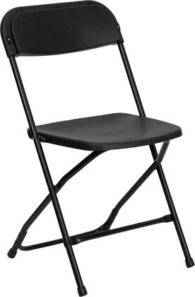 "Flash Furniture HERCULES Series LE-L-3-XX-GG 17.5"" 800 lb. Capacity Premium Plastic Folding Chair with Double Support Rails, 18-Gauge Steel Frame, and Non-Marring Floor Caps"