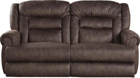 "Catnapper Atlas Collection 15X1 90"" Reclining Sofa with Heavy Duty Fabric Upholstery, Steel Seat Box Seating and Comfor-Gel Memory Foam Insert in Sable"