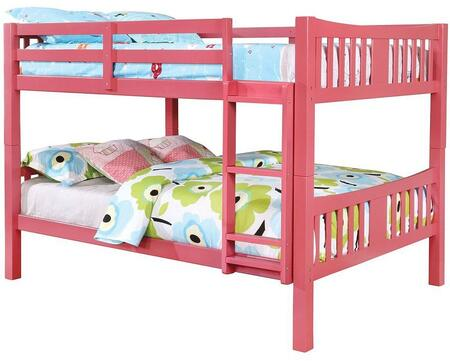 Furniture of America CMBK929PKBED Cameron Series  Twin Size Bunk Bed