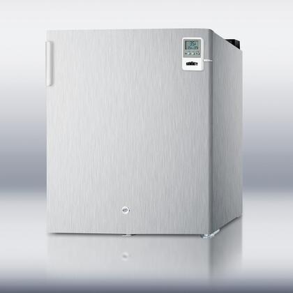 Summit FFAR22LCSSMEDDT MEDDT Series Compact Refrigerator with 1.6 cu. ft. Capacity in Stainless Steel