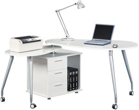RTA Products RTA220ABWHT Computer  Desk