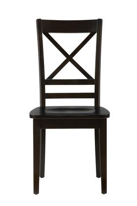 "Jofran Simplicity Collection X52806KD 38"" X-Back Chair with Solid Rubberwood, Tapered Legs and Casual Style in"