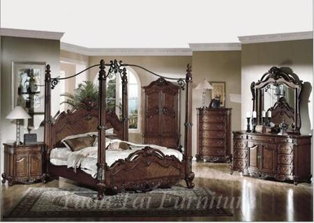 Yuan Tai CR7400Q Crawford Series  Queen Size Poster Bed