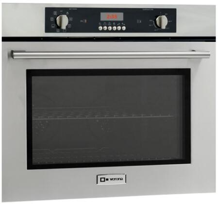 "Verona VEBIEM XX"" Electric 110 Volts Wall Oven With X Oven Capacity, 8 Cooking Functions, Electronic Controls, 3 Pane Heat Resistant Glass and 2 Oven Racks With 4 Positions in Stainless Steel"