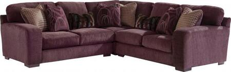 """Jackson Furniture Serena Collection 2276-46-59-42- 110"""" 3-Piece Sectional with Left Arm Facing Loveseat, Corner Section and Right Arm Facing Loveseat with Chenille Fabric Upholstery, Eight Pillows and Wide Track Arms in"""