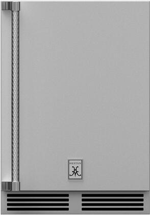 Hestan GRS Outdoor Refrigerator with Lock and Hinge Solid Door