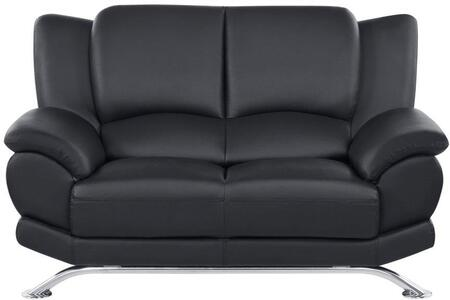 Global Furniture USA 9908BLL Leather  with Metal Frame Loveseat