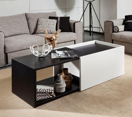 VIG Furniture VGWCVP220A Black Oak/White Modern Table