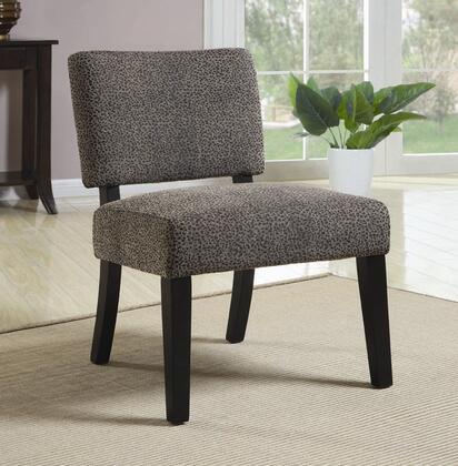 Coaster 902051 Armless Fabric Wood Frame Accent Chair