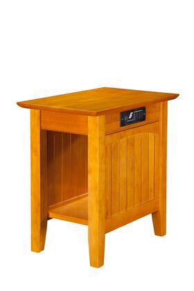 Atlantic Furniture AH1331 Nantucket Chair Side Table with Charger