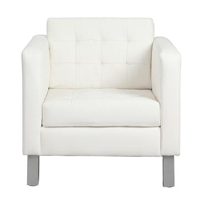 Rissanti 8180IVORY Piedmont Series Club Leather Accent Chair