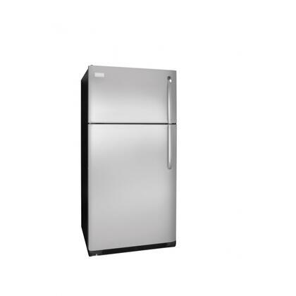 Frigidaire FFHT1826LK Freestanding Top Freezer Refrigerator with 18.2 cu. ft. Total Capacity 2 Glass Shelves 4.07 cu. ft. Freezer Capacity