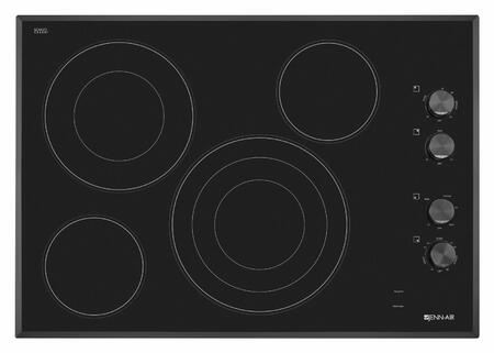"Jenn-Air JEC3430BT 30"" Electric Cooktop with 4 Elements, Elegant Beveled Edge, Black Floating Glass Design, Hot Surface Indicators, in"