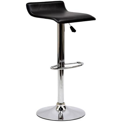 "Modway EEI-579 Gloria 22.5"" Bar Stool with Modern Design, 360 Degree Swivel, Leatherette Seat, Chromed Steel Base and Frame"