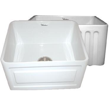 Whitehaus WHFLRPL2418WH Kitchen Sink