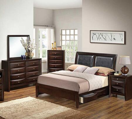 Glory Furniture G1525DDKSB2DMN G1525 King Bedroom Sets