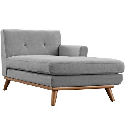 Modway EEI1794GRY Engage Series Fabric Wood Frame Chaise Lounge