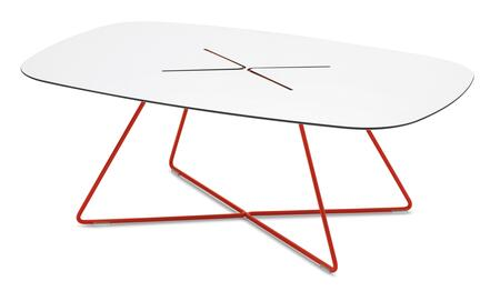 Domitalia CROSSC14FRTHBI Red Contemporary Table