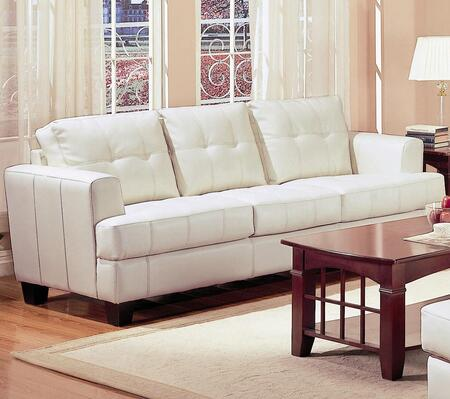 Coaster 501691 Samuel Series Stationary Bonded Leather Sofa
