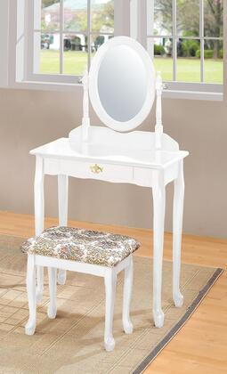 Acme Furniture 02337WH Queen Anne Series Wood 1 Drawers Vanity