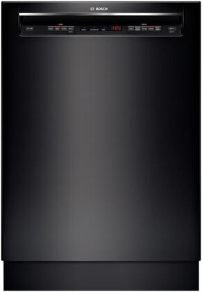 "Bosch SHE53TL6UC 24"" 300 Series Black Built In Full Console Dishwasher with 15 Place Settings Place Setting"