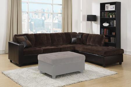 Coaster 505645 Mallory Series Sofa and Chaise Microfiber Sofa