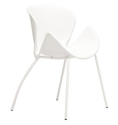 ITALMODERN L3695WHT Bloom Series Modern Not Upholstered Metal and Plastic Frame Dining Room Chair