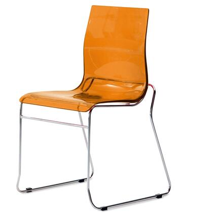 Domitalia GEL/B-AS FV- Gel Stacking Chair with Satinated Aluminum Frame and Acryl Nitrile Styrene Shell in