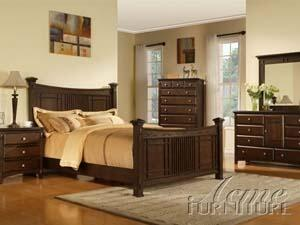 Acme Furniture 19940Q Caja Series  Queen Size Poster Bed