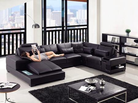 Vig Furniture Divani Casa Diamond Leather Sectional Sofa Vgyit2852