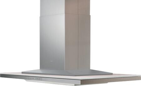 Zephyr ALLxxBxX Arc Layers Island Chimney Range Hood with Glass Touch Controls, Tri-Level LED Lighting, Quick Lock Installation and Wireless Remote Control, in