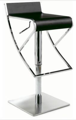 Chintaly 0815-AS- Adjustable Swivel Stool with Rectangular Seat: