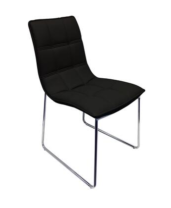 "Casabianca Leandro Collection CB-870 34"" Dining Chair with Stitched Detailing, Eco-Leather Upholstery and Chrome Legs in"