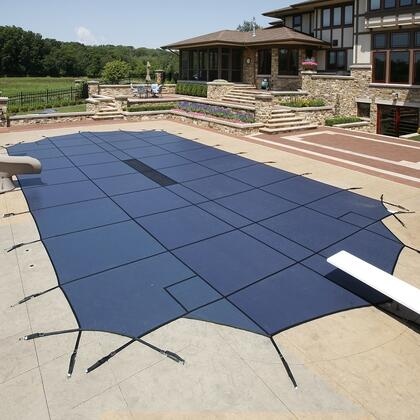 Artic Armor WS2XXXBCENTER Blue 20-Year Ultra Light Solid Safety Cover For 00' x 00' Pool with Center End Step in Blue