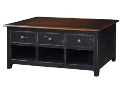 Bramble 22709 Black Distressed Transitional Table