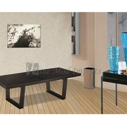 Fine Mod Imports FMI115248BLACK Accent Armless Steel Not Upholstered Bench