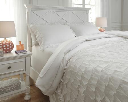 Milo Italia Verlie Collection C3000TMP PC Size Duvet Cover Set includes 1 Duvet Cover and Standard Sham with Ruffle Design and Cotton Material in White Color